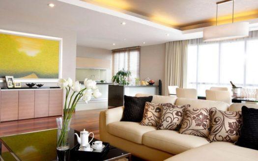 Threee Plus one bedroom livingroom 835x467 1